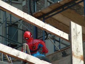 Look out! It's Spiderman