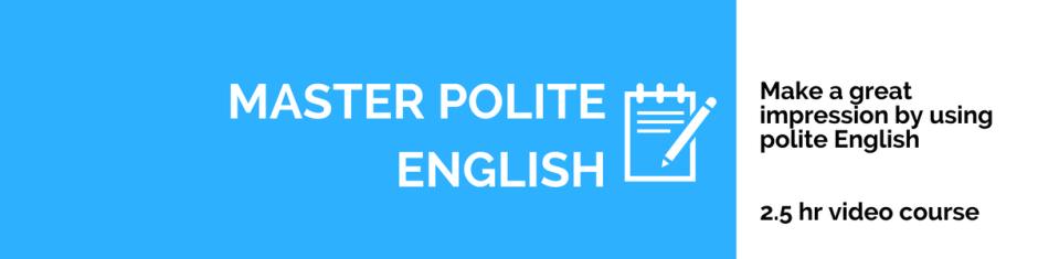 polite english