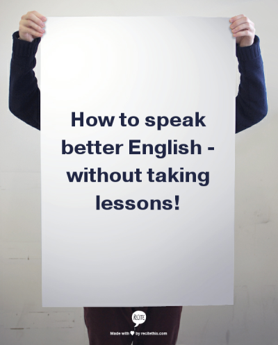 improve your speaking in English